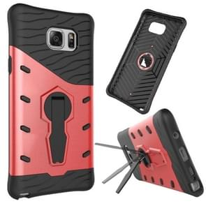 For Samsung Galaxy Note 5 / N920 Shock-Resistant 360 Degree Spin Tough Armor TPU+PC Combination Case with Holder(Red)