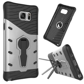 For Samsung Galaxy Note 5 / N920 Shock-Resistant 360 Degree Spin Tough Armor TPU+PC Combination Case with Holder(Silver)