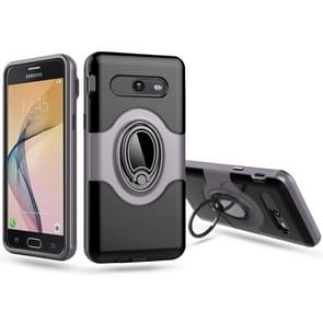 For Samsung Galaxy J5 (2017) (US Version) Dropproof Full Coverage Protective Case Cover with Magnetic Rotatable Ring Holder(Grey)