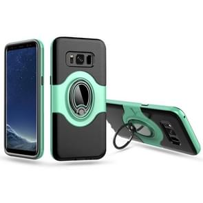 For Samsung Galaxy S8 / G950 Dropproof Full Coverage Protective Case Cover with Magnetic Rotatable Ring Holder (Green)