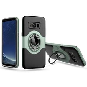For Samsung Galaxy S8 / G950 Dropproof Full Coverage Protective Case Cover with Magnetic Rotatable Ring Holder (Mint Green)