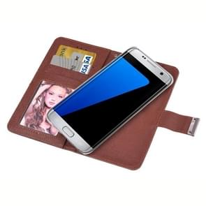 For Samsung Galaxy S7 / G930 Oracle Texture Separable Horizontal Flip Leather Case with Card Slots & Wallet & Photo Frame & Lanyard (Coffee)