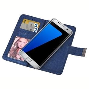 For Samsung Galaxy S7 / G930 Oracle Texture Separable Horizontal Flip Leather Case with Card Slots & Wallet & Photo Frame & Lanyard (Dark Blue)