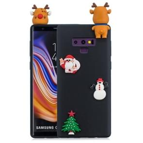 3D Paster Christmas Elk Pattern TPU Protective Case for Galaxy Note9 (Black)