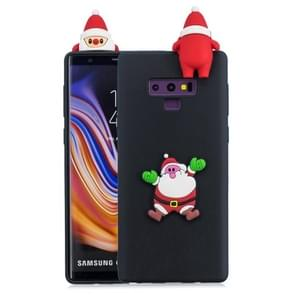 3D Paster Santa Claus Pattern TPU Protective Case for Galaxy Note9 (Black)