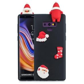 3D Paster Santa Claus Ornament Pattern TPU Protective Case for Galaxy Note9 (Black)