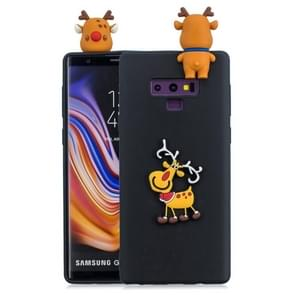 3D Paster Elk Pattern TPU Protective Case for Galaxy Note9 (Black)