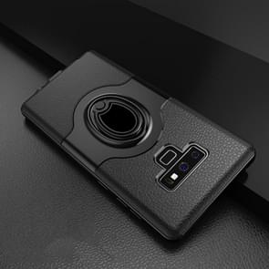 Dropproof Full Coverage Protective Case Cover for Galaxy Note9, with Magnetic Rotatable Ring Holder(Black)