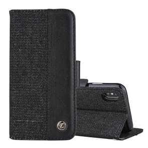 Detachable Denim Spliced Horizontal Flip Genuine Leather Case for Galaxy Note9, with Holder & Wallet & Card Slots (Black)
