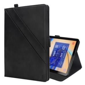 Horizontal Flip Double Holder Leather Case for Galaxy Tab S4 10.5 T830 / T835, with Card Slots & Photo Frame & Pen Slot(Black)