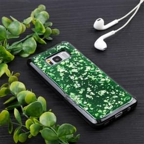 For Samsung Galaxy S8 Gold Foil TPU Protective Back Cover Case (Green)