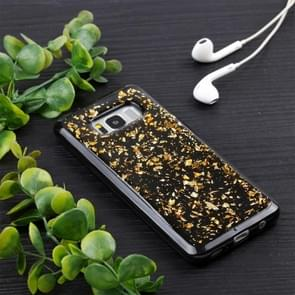 For Samsung Galaxy S8 Gold Foil TPU Protective Back Cover Case (Gold)