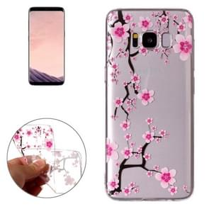 For Samsung Galaxy S8 Pink Plum Blossom Pattern TPU Protective Case