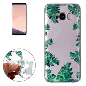 For Samsung Galaxy S8 Green Leaf Pattern TPU Protective Case