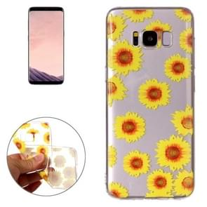 For Samsung Galaxy S8 Chrysanthemum Pattern TPU Protective Case