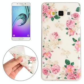 For Samsung Galaxy A5 / A500F Flowers Pattern TPU Protective Case
