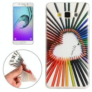 For Samsung Galaxy A5 / A500F Color Pencil Pattern TPU Protective Case