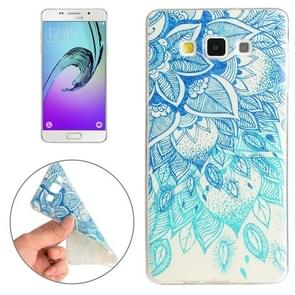 For Samsung Galaxy A5 / A500F Blue Leaves Pattern TPU Protective Case