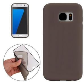 For Samsung Galaxy S7 / G930 Horizontal Flip Transparent Touch Screen PC Front Cover + TPU Back Cover Protective Case(Grey)
