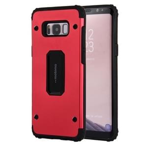 For Samsung Galaxy S8 PC+TPU Shockproof Protective Back Cover Case(Red)