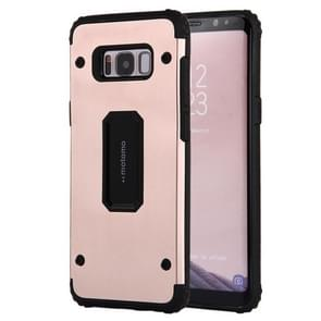 For Samsung Galaxy S8 PC+TPU Shockproof Protective Back Cover Case(Rose Gold)