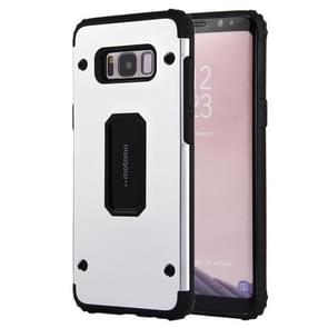 For Samsung Galaxy S8 PC+TPU Shockproof Protective Back Cover Case(Silver)