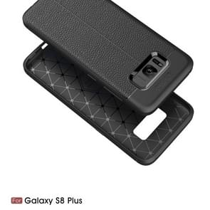 For Samsung Galaxy S8 + / G9550 Litchi Texture TPU Protective Back Cover Case (Grey)