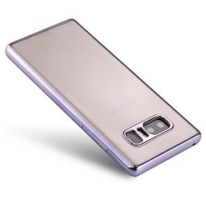 For Samsung Galaxy Note 8 Electroplating Side TPU Protective Back Cover Case(Grey)