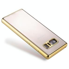 For Samsung Galaxy Note 8 Electroplating Side TPU Protective Back Cover Case (Gold)