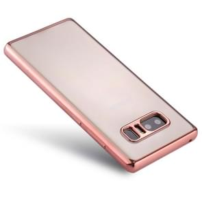 For Samsung Galaxy Note 8 Electroplating Side TPU Protective Back Cover Case (Rose Gold)