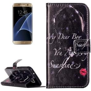 For Samsung Galaxy S7 / G930 Rilievo Carving Redlips Girl Pattern Horizontal Flip Leather Case with Magnetic Buckle & Holder & Card Slots & Wallet
