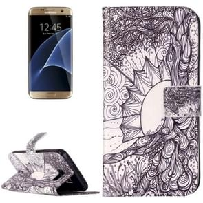 For Samsung Galaxy S7 / G930 Rilievo Carving Life Tree Pattern Horizontal Flip Leather Case with Magnetic Buckle & Holder & Card Slots & Wallet