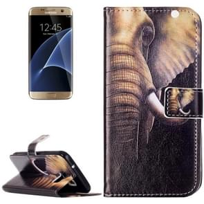 For Samsung Galaxy S7 / G930 Rilievo Carving Elephant Pattern Horizontal Flip Leather Case with Magnetic Buckle & Holder & Card Slots & Wallet
