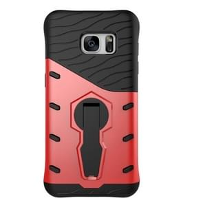 For Samsung Galaxy S7 / G930 Shock-Resistant 360 Degree Spin Tough Armor TPU+PC Combination Case with Holder(Red)