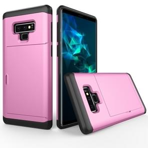 Shockproof Rugged Armor Protective Case for Galaxy Note 9, with Card Slot(Pink)