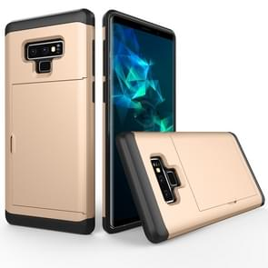 Shockproof Rugged Armor Protective Case for Galaxy Note 9, with Card Slot(Gold)