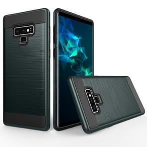 Brushed Texture Shockproof Rugged Armor Protective Case for Galaxy Note 9(Navy Blue)