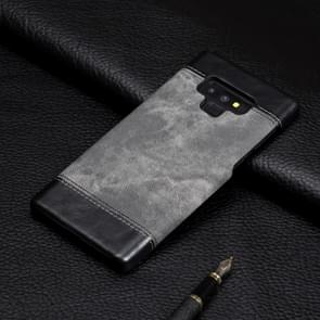 Denim Texture PC+PU Protective Case for Galaxy Note9(Grey)