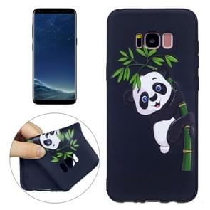 For Samsung Galaxy S8 + / G955 Panda Bamboo Pattern Stereo Relief TPU Protective Back Cover