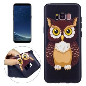 For Samsung Galaxy S8 + / G955 Owl Pattern Stereo Relief TPU Protective Back Cover