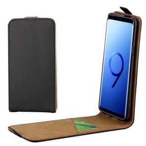 Voor Samsung Galaxy S9+ Vertical Flip lederen beschermings Back Cover hoesje met opbergruimte voor pinpassen (zwart)