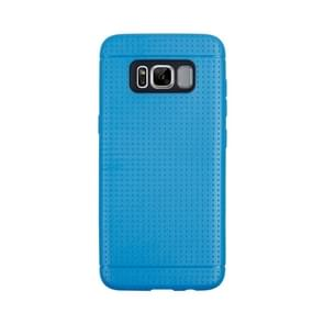 For Samsung Galaxy S8 Honeycomb Texture Soft TPU Protective Case(Blue)