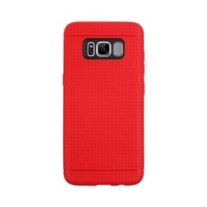 For Samsung Galaxy S8 Honeycomb Texture Soft TPU Protective Case(Red)
