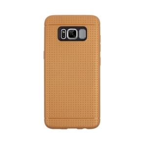 For Samsung Galaxy S8 Honeycomb Texture Soft TPU Protective Case(Brown)