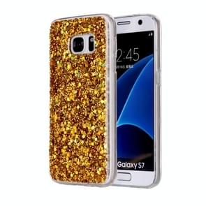 For Samsung Galaxy S7 / G930 Glitter Powder Soft TPU Protective Case (Gold)