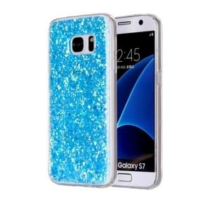 For Samsung Galaxy S7 / G930 Glitter Powder Soft TPU Protective Case (Blue)