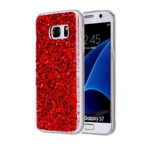 For Samsung Galaxy S7 / G930 Glitter Powder Soft TPU Protective Case (Red)