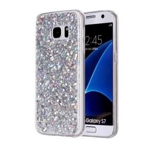 For Samsung Galaxy S7 / G930 Glitter Powder Soft TPU Protective Case (Silver)