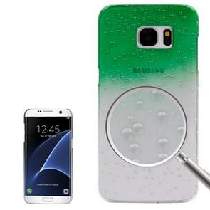 For Samsung Galaxy S7 Edge / G935 Artistic Water-drop Pattern PC Protective Cover Case (Green)