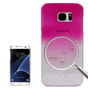 For Samsung Galaxy S7 Edge / G935 Artistic Water-drop Pattern PC Protective Cover Case (Magenta)